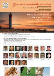 South African Society for Dermatological Surgery & - Dermatology