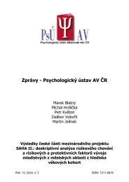 Zprávy - Psychologický ústav AV ČR