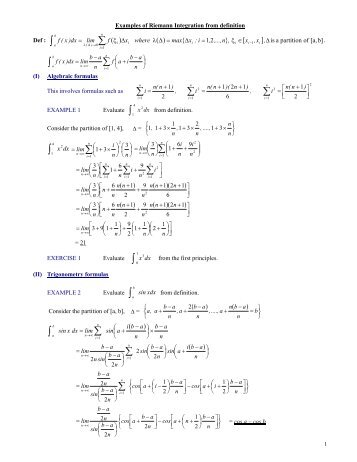 Lab7 Riemann Sums And Definite Integrals Using Derive Chapter