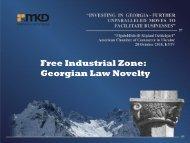 Free Industrial Zone: Georgian Law Novelty - MKD.Ge