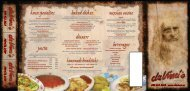 dinners mexican cuisine beverages house specialties pasta baked ...