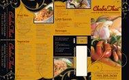 Beverages Lunch Specials Fried Rice Vegetarian Desserts