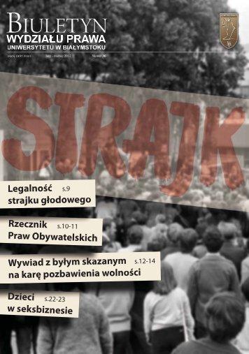 marzec 2012 - Wydział Prawa Uniwersytetu w Białymstoku