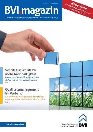 Wie kann ich erfolgreich Eigentümer- gemeinschaften ... - BVI Magazin