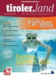 Tiroler Familien - Tirol - Familienpass