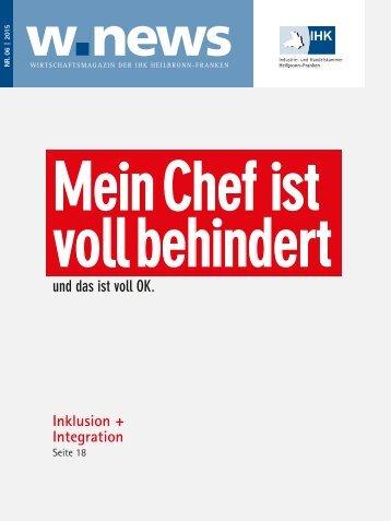 Inklusion + Integration | w.news 06.2015