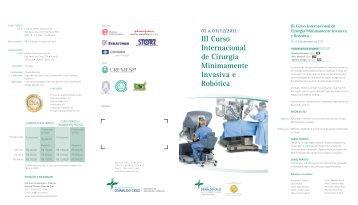 III Curso Internacional de Cirurgia Minimamente Invasiva e Robótica