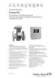 Promag 53 Flowmeter via EtherNet/IP to the     - Endress+Hauser