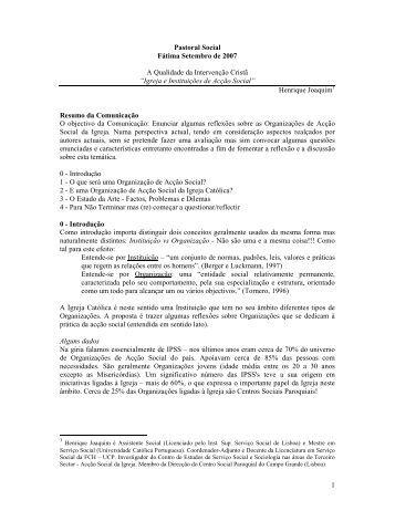 Texto integral em pdf - Agência Ecclesia