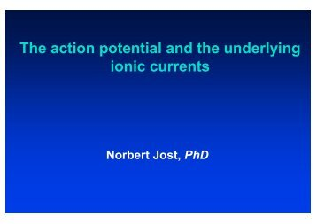 The action potential and the underlying ionic currents