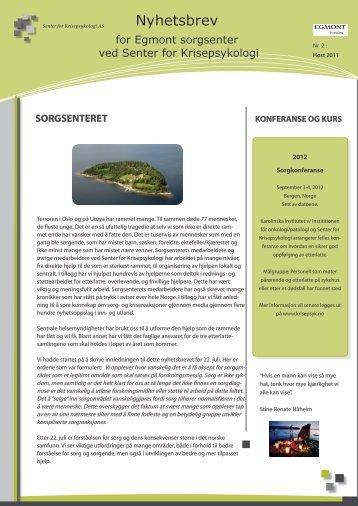 Nr. 2 - 2011 - Senter for Krisepsykologi