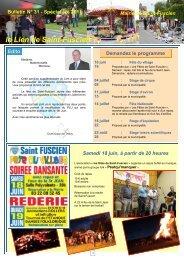 Lien n°31 - spécial été 2011 - Saint-Fuscien
