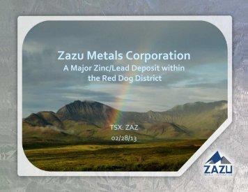 Zazu Metals Corporation