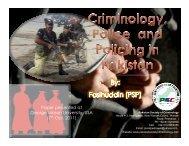 Presentation - Terrorism, Transnational Crime and Corruption Center