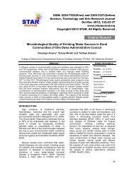 Original Research Original Research - STAR Journal