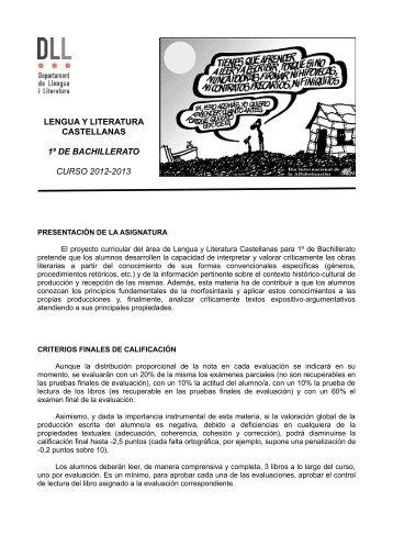 LENGUA Y LITERATURA CASTELLANAS