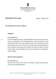 PRESSEMITTEILUNG - Polizeidirektion Ravensburg