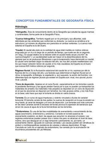 CONCEPTOS FUNDAMENTALES DE GEOGRAFÍA FÍSICA