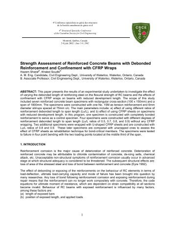 Strength Assessment of Reinforced Concrete Beams with Debonded ...