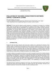 evaluation of the bond characteristics between asphalt concrete layers