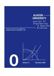 Journal of Engineering & Applied Sciences - ALHOSN University