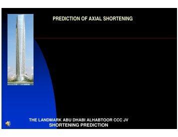 PREDICTION OF AXIAL SHORTENING