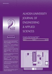 alhosn university journal of engineering & applied sciences