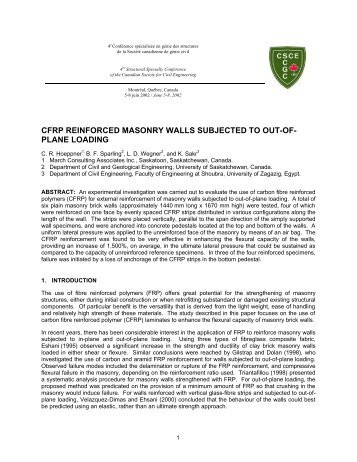 masonry dissertations Wang, j, 2014 numerical modelling of masonry arch bridges:investigation of  spandrel wall failure thesis (doctor of philosophy (phd)) university of bath.