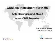 CDM als Instrument für KMU - clima-pro