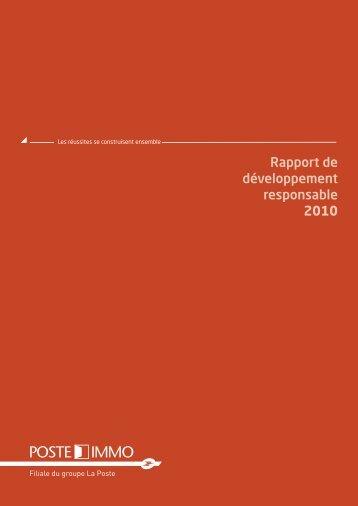 Télécharger le rapport - Poste Immo