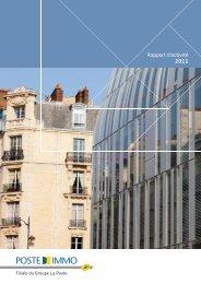 Rapport d'activité 2011 - Poste Immo