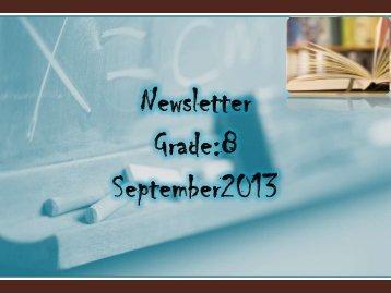 Newsletter Gr.8_Sep - JSS Private School