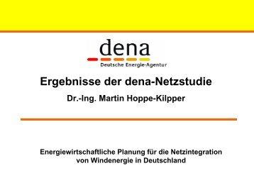 Ergebnisse der dena-Netzstudie - Treffpunkt Netze