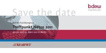 Save the date - Treffpunkt Netze