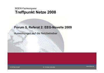 EEG Novelle 2009 - Treffpunkt Netze