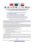 EU Turkey Global Bridge Building Initiative 2013 - Ceeba - Page 2