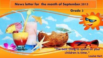 Newsletter gr. 3_sep - JSS Private School