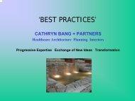 creating a healing healthcare environment - cathryn bang + partner