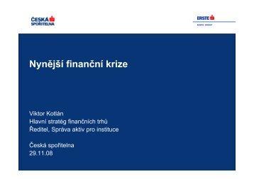Nynější finanční krize