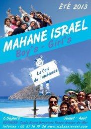 MAHANE ISRAEL - Hassidout