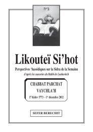 CHABBAT PARCHAT VAYCHLA'H - Hassidout