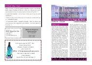 Dix Commandements - Hassidout