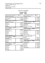 Yom Tov Schedule for Autumn 2005 - the Chaseplanet!