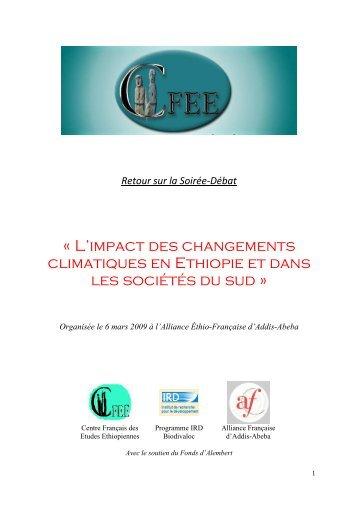« L'impact des changements climatiques en Ethiopie et dans ... - CFEE