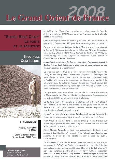 René Char Feuillets D Hypnos Texte Intégral