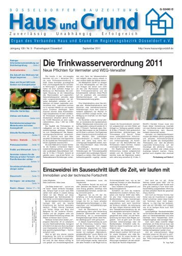 Jahrgang 109 / Nr. 9 - Haus und Grund Düsseldorf