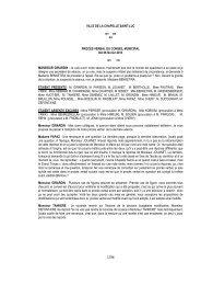 Compte-rendu de Conseil - Février 2013 - La Chapelle St-Luc