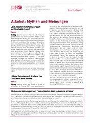 101203 DHS Factsheet Mythen und Meinungen - Aktionswoche ...