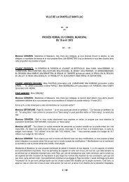 Compte-rendu de Conseil - La Chapelle St-Luc