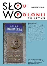 • Nr 30 BELGRAD 2006 • - Polonia-serbia.org